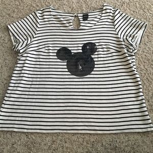 Torrid stripe mickey shirt